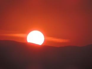 Korfu, auringonnousu
