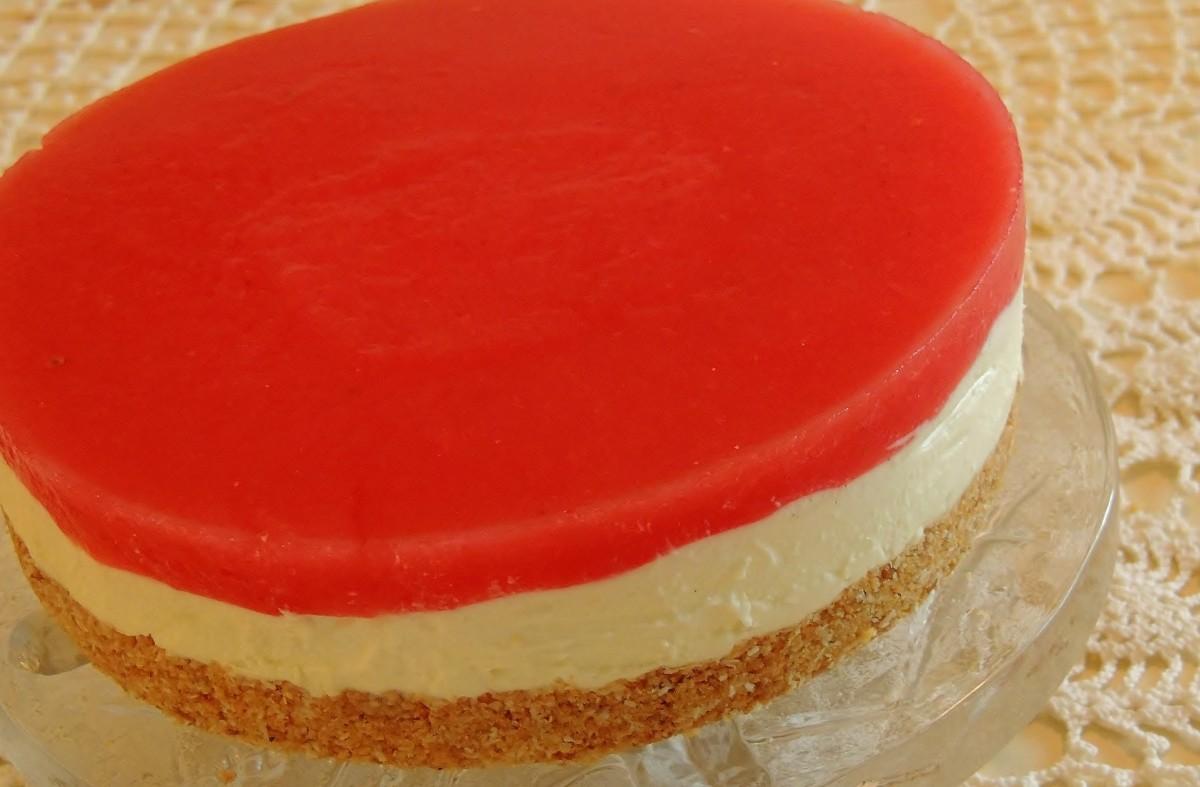 Meloni-juustokakku